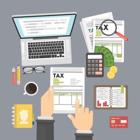 Steuerberechnungskonzept. Standard-Bild - 82188877