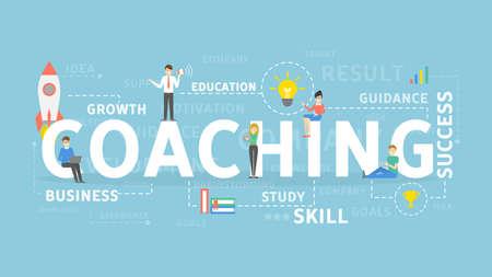 supervise: Coaching concept illustration.