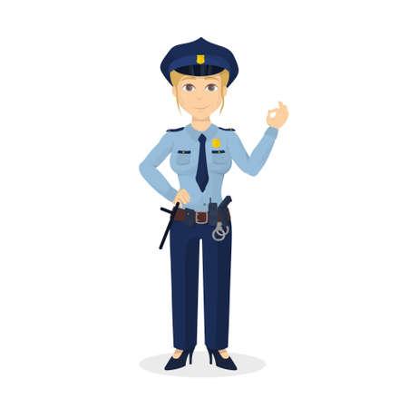 policewoman: Isolated ok policewoman.