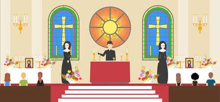liturgy: Liturgy at church.