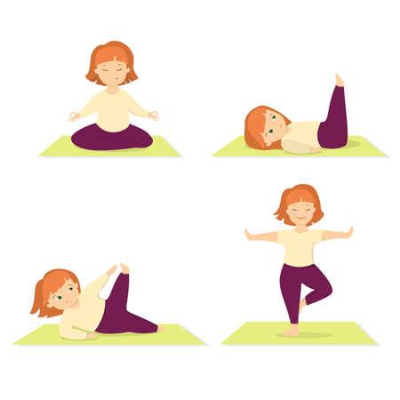 yogi: Isolated woman doing yoga. Stock Photo