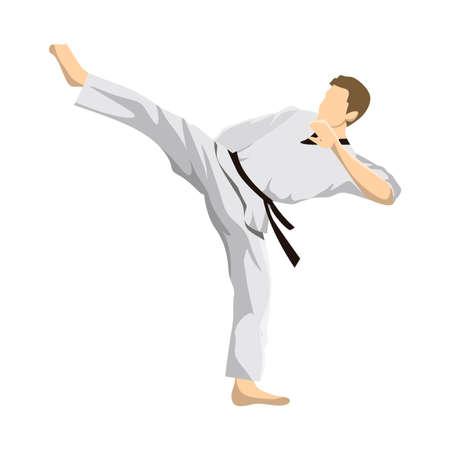 Taekwondo sport athlete icon Vetores