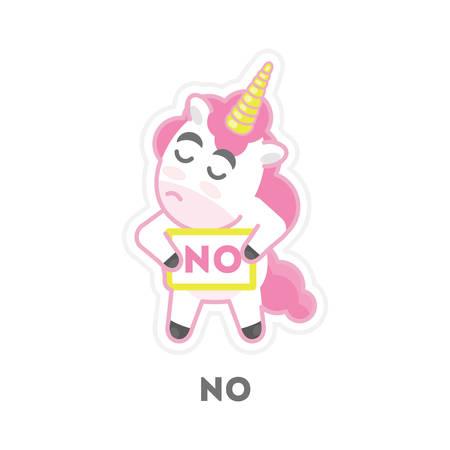 refuse: Isolated refusing unicorn.