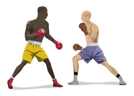 Isolated box fighting.