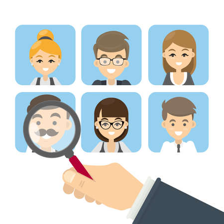 candidates: Search for candidates. Illustration