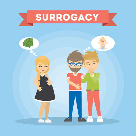 Surrogacy illustration concept. Reklamní fotografie - 83486306