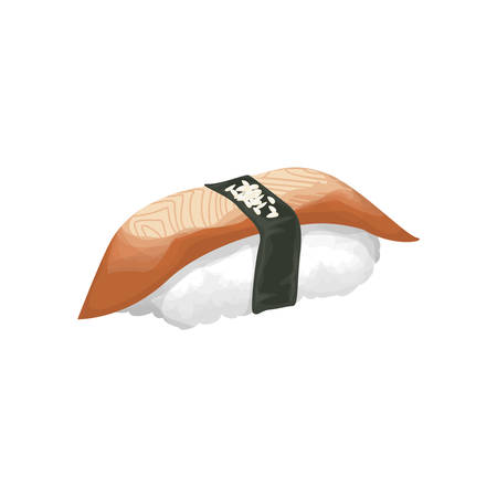 nori: Isolated sushi roll.