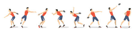 discus: Discus throw set.