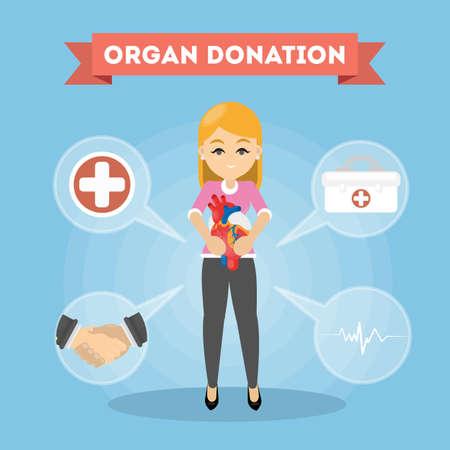 Organ donation woman.