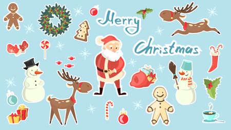 メリー クリスマスを設定します。 写真素材 - 84357920