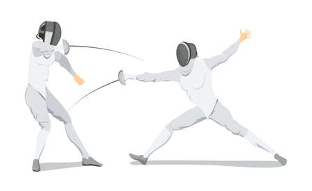 Isolated fencing athlete. Banco de Imagens - 84355647