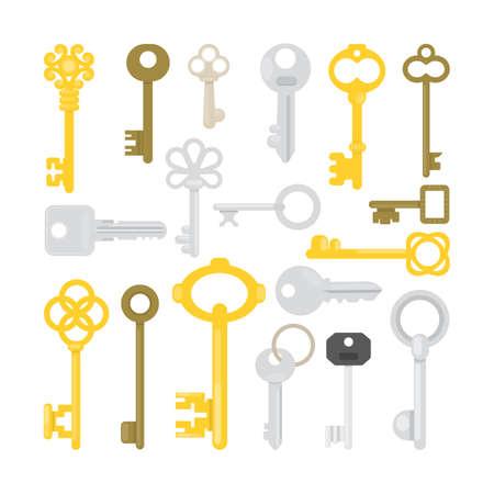 Keys illustrations set.