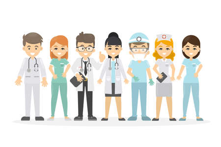 Medical staff set. Illustration