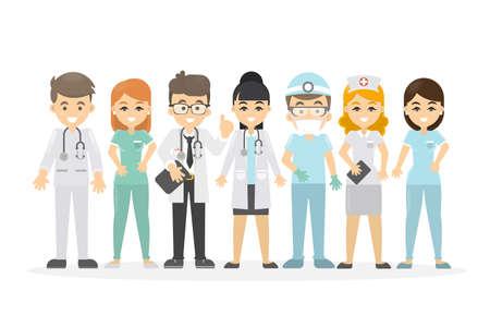 Medical staff set. Illustration