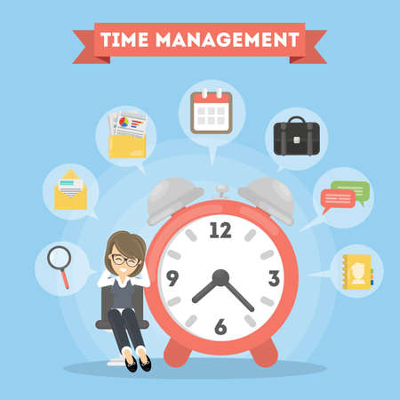 Time management woman.