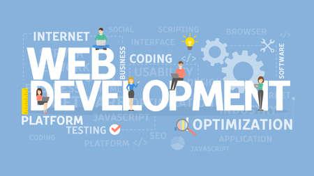 웹 개발 개념입니다. 스톡 콘텐츠 - 84355669