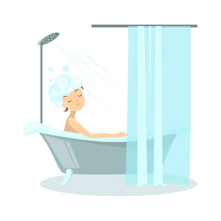 Donna nel bagno. Archivio Fotografico - 84747791