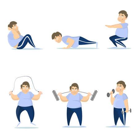 Fat man training.