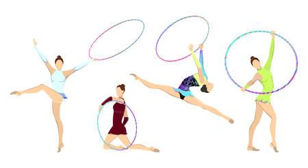 Gymnastics with hoop.