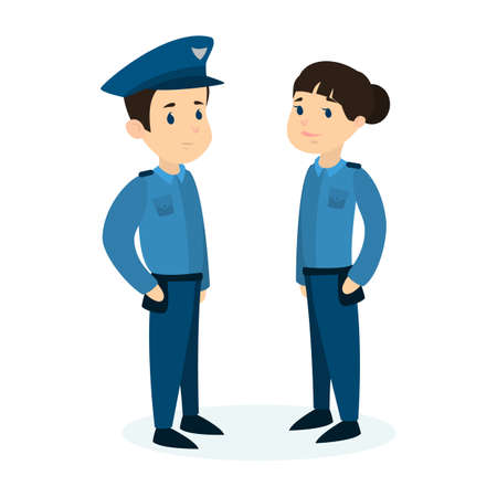 femme policier: Les policiers s'assoient aux couples.