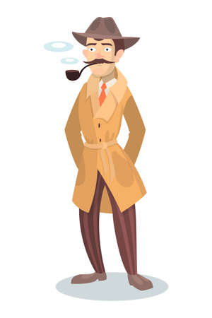 Detective with pipe icon.