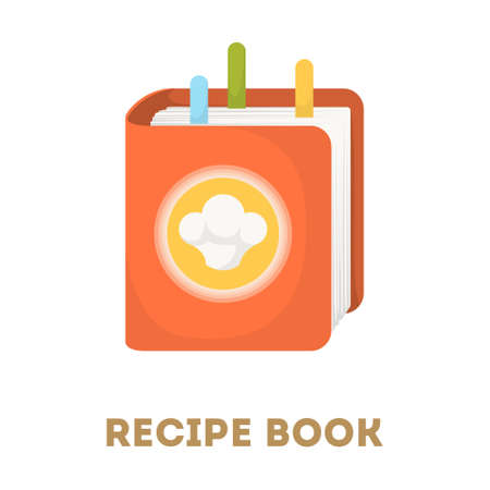 Recipe book icon. Illustration