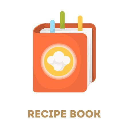 Recipe book icon. Illustration