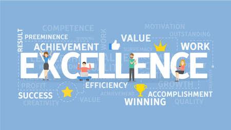 Illustration du concept d'excellence.