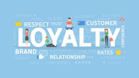 Ilustración del concepto de la lealtad. Foto de archivo - 85585455