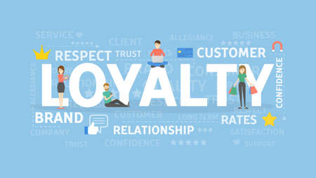 Loyalty concept illustration.