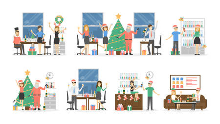 Office Christmas party. Illustration
