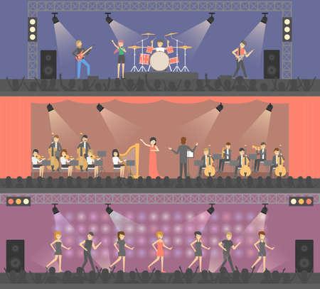 Concerts on stage set. Banco de Imagens - 86085062