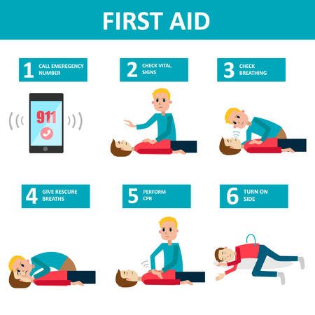 First aid banner Illustration