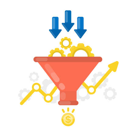 Sales funnel concept.