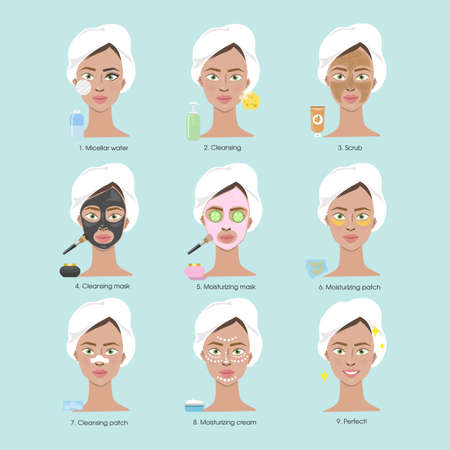 Cleaning face for women.