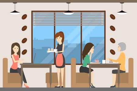 커피 숍 사람들.