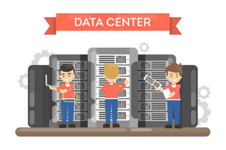 Data center room. Stock Vector - 86627103