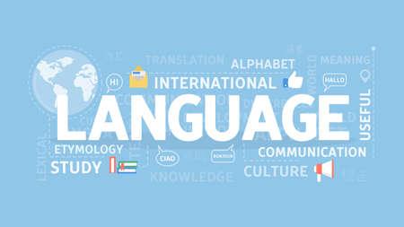 Concepto de ilustración de la lengua.