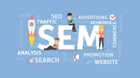 Search engine marketing concept.