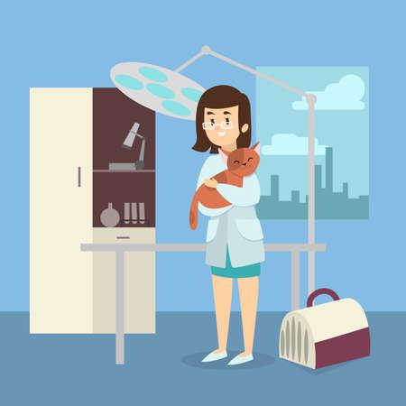 Female veterinarian doctor Illustration