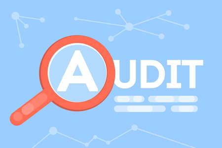 Audit concept illustration.