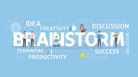 education concept: Brainstorm concept illustration. Illustration