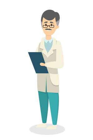 Isolierter männlicher Doktor. Standard-Bild - 87399853
