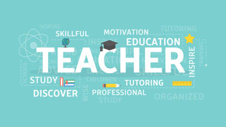 Teacher concept illustration. Illustration
