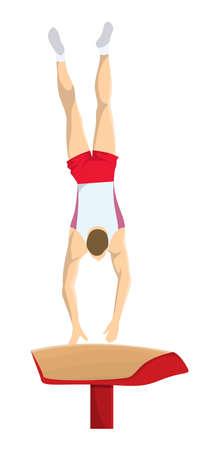 Man at gymnastics. Illustration