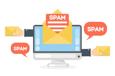 Spam concept illustration. 矢量图片