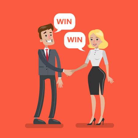 Businesspeople deal agreement. Illustration