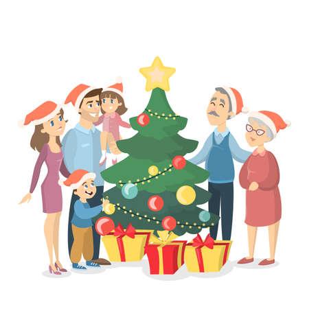 Family at Christmas.