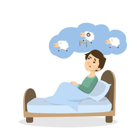 Man with insomnia. Ilustracja