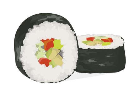 Sushi rolls set.
